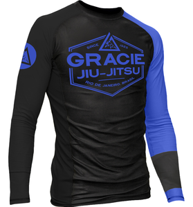 Blue Gracie Rash Guard2